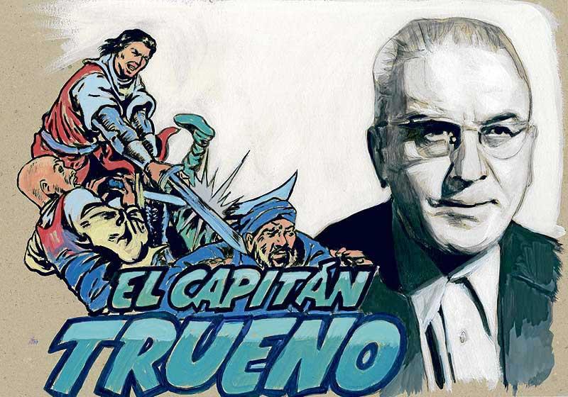 """Miguel Ambrosio Zaragoza, """"Ambrós"""", dibujante de la Colección del Capitán Trueno."""
